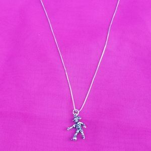 Jewelry - Real 925 Sterling Silver Soccer Girl Necklace